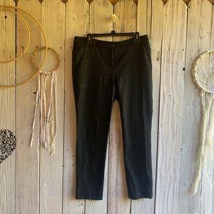 DVF Textured Skinny Black Slacks 10 EUC
